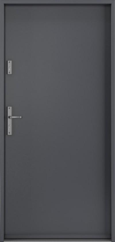Drzwi wejściowe do domu Steel SAFE RC3 A0 Blacha Stalowa Laminowana PCV ***** Antracyt