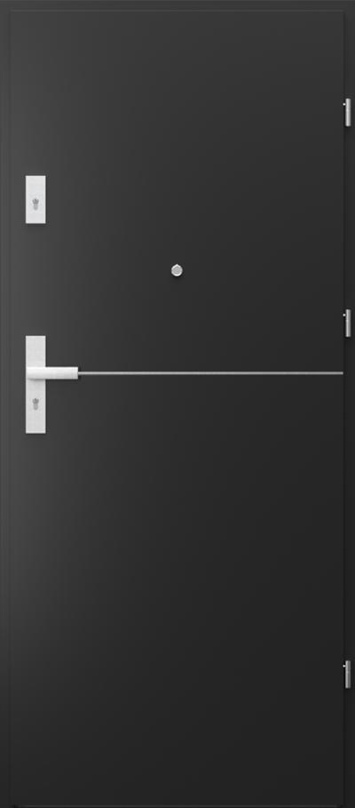 Drzwi wejściowe do mieszkania AGAT Plus intarsje 7