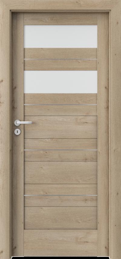 Drzwi wewnętrzne Porta VERTE HOME, C C.2 intarsje Okleina Portaperfect 3D **** Dąb Klasyczny