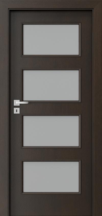 Drzwi wewnętrzne Natura CLASSIC 5.5 Okleina Naturalna Dąb Satin **** Nero