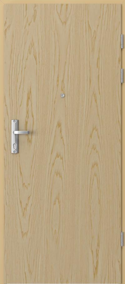 Drzwi wejściowe do mieszkania EXTREME RC3 płaskie Okleina Naturalna Jesion **** Jesion