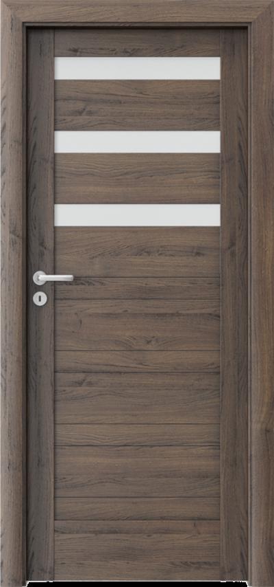 Drzwi wewnętrzne Porta VERTE HOME, D D.3 Okleina Portasynchro 3D *** Dąb Szkarłatny