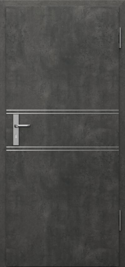Drzwi techniczne INNOVO 37 dB Intarsje 4 Okleina CPL HQ 0,2 ***** Beton Ciemny