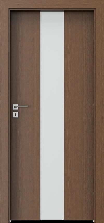 Drzwi wewnętrzne Villadora MODERN SpaceS02 Okleina Naturalna Dąb Satin **** Dąb Brunatny