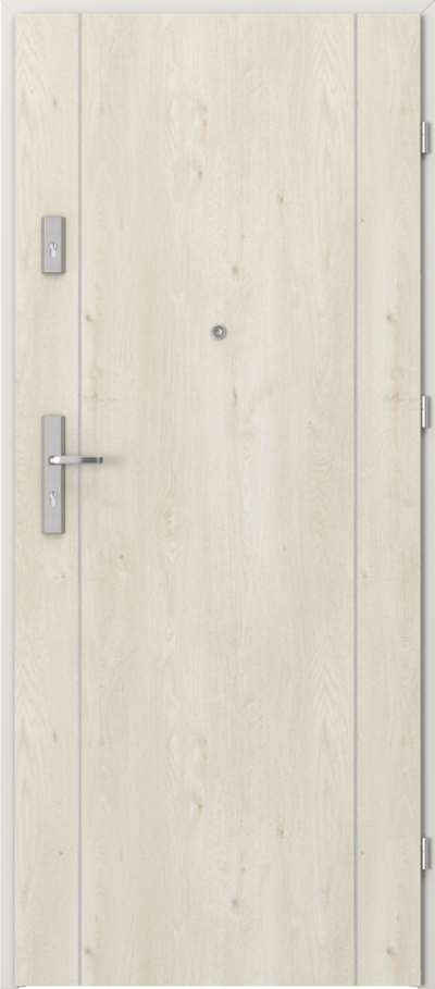 Drzwi wejściowe do mieszkania AGAT Plus intarsje 1 Okleina Portaperfect 3D **** Dąb Skandynawski