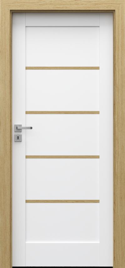 Drzwi wewnętrzne Porta GRANDE F.0 listwa dekoracyjna z litego dębu