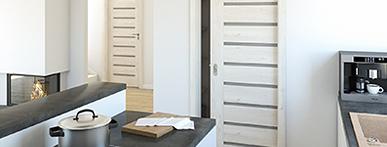 Drzwi łamane, suwane